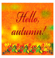 cozy autumn with fall colorful leaves vector image vector image