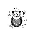 decorative owl silhouette vector image vector image