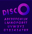 disco style alphabet retro nightclub font set of vector image vector image