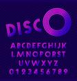 disco style alphabet retro nightclub font set vector image vector image