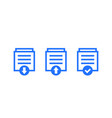 documents download upload icons on white vector image vector image