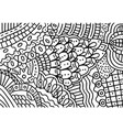 doodle pattern for coloring book for adults vector image vector image