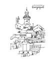 drawing sketch santa ana hill in guayaquil vector image