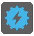 Electric Energy Gear Rounded Square Icon vector image