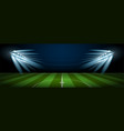 empty football field arena stadium vector image vector image