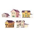 evolution house architecture housing progress set vector image vector image