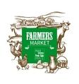 Farm Market Frame vector image vector image