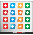Four sets of four positions of square Colored vector image vector image