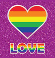 gay pride poster with rainbow spectrum heart vector image vector image