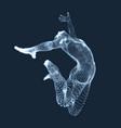 gymnast man 3d human body model grid design