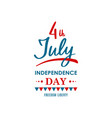 happy united states independence day 4th of july vector image vector image