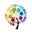 Infographic tree for your design vector image vector image