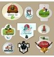 Japan Emblems Set vector image vector image