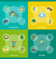 kid playground elements banner 3d set isometric vector image vector image