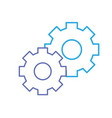 line gear industry technology information icon vector image vector image