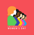 march 8 happy international women day vector image vector image