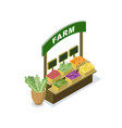 market food counter isometric 3d icon vector image vector image