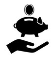 money protection icon simple black style vector image vector image