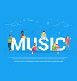 music concept vector image