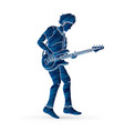 musician playing bass music band graphic vector image vector image