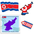 national colours of North Korea vector image vector image