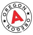 Oregon stamp rubber grunge vector image vector image