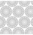 oriental pattern with round arabesques elements vector image vector image