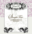 ornate frame on purple floral background vector image