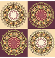 ottoman serial patterns thirteen version vector image vector image