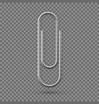 realistic paperclip icon paper clip attachment vector image vector image