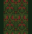 red and green floral pattern vector image vector image