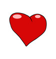 red heart valentine love symbol icon vector image