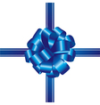 ribbon and bow vector image