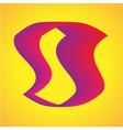 s shape curve modern gradient shape template vector image vector image