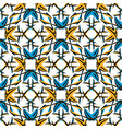 seamless geometric pattern basic colors of orange vector image