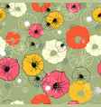 seamless ornate decorative floral pattern bright vector image vector image