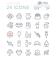 Set Flat Line Icons Chocolate vector image vector image