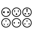 set of different plugs vector image