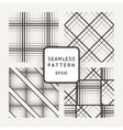 set of seamless geometric patterns of lines vector image vector image