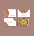 sets of mandala cards vector image vector image
