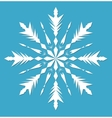 Snowflake Snowflake icon flat style Snowflake vector image vector image