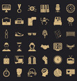 sport score icons set simple style vector image vector image
