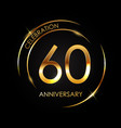 template 60 years anniversary vector image vector image