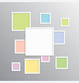 the frame for photo picture photo collage vector image vector image