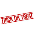 trick or treat stamp vector image vector image
