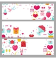 Valentines day banner set Template with space for vector image