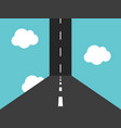 vertical road in sky vector image vector image