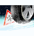 winter tire vector image