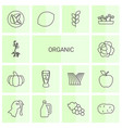 14 organic icons vector image vector image