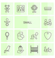 14 small icons vector image vector image